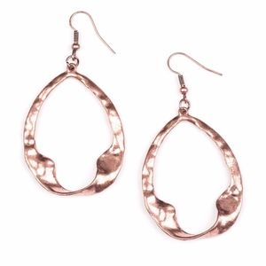 Free with Bundle Twist Me Round Copper Earrings
